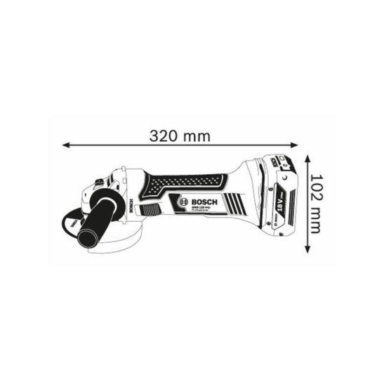Bosch GWS18-125V-LI Winkelschleifer 125mm, Solo ohne Akku