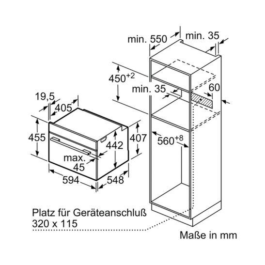 Bosch CMG633BB1 Four compact encastrable avec micro-ondes combiné 60 cm