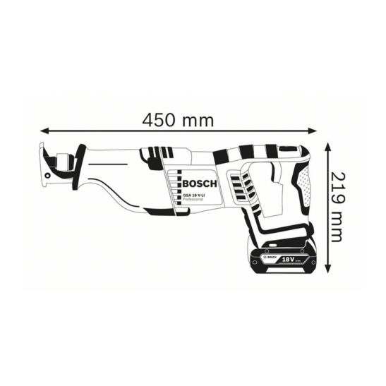 Bosch Akku-Säbelsäge GSA 18V-LI, ohne Akku und Ladegerät