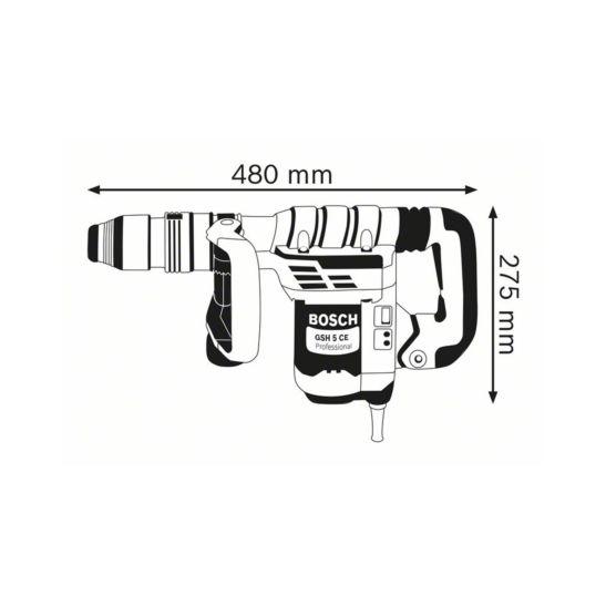 Bosch Marteau piqueur GSH 5 CE