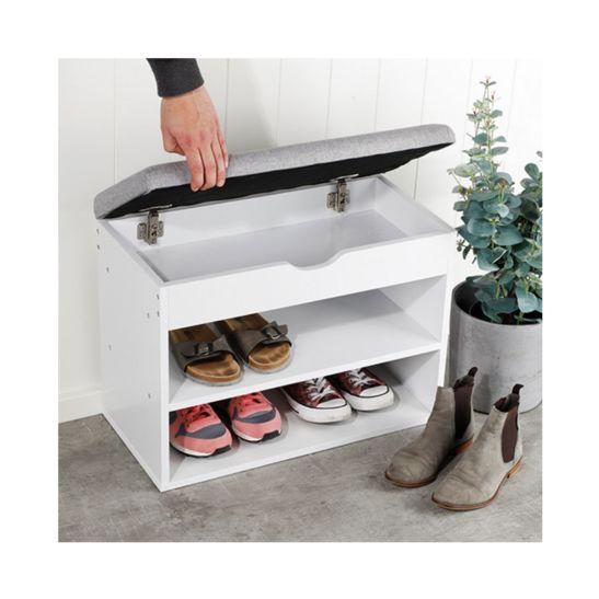 FS-STAR Schuhregal mit Aufbewahrungsfach und gepolsterter Fläche
