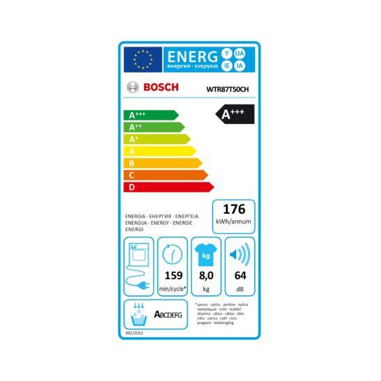 Bosch Wärmepumpentrockner WTR87T50 8 kg A+++