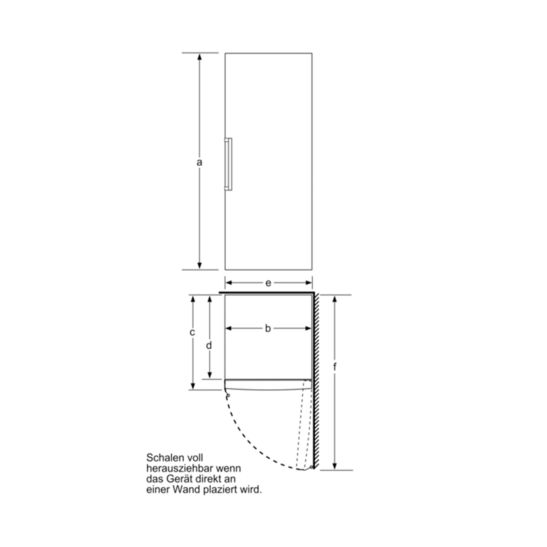 Bosch GSN58AWEP Gefrierschrank No Frost 365 Liter