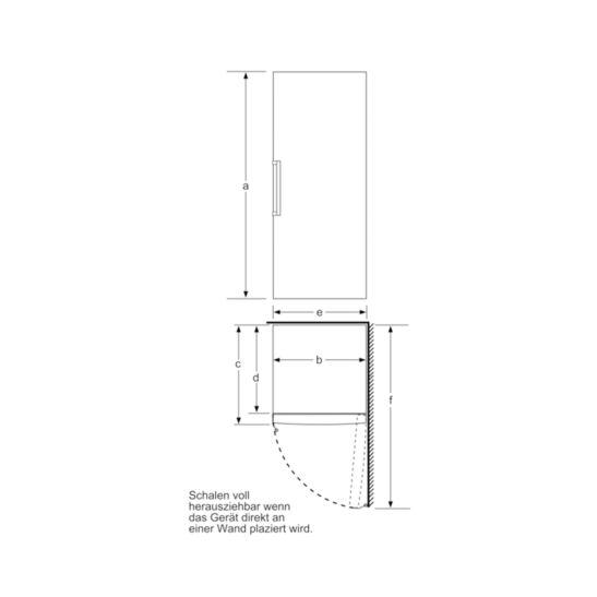 Bosch Gefrierschrank GSN58AWDV 365 Liter A+++ NoFrost