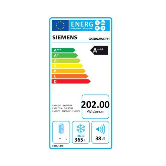 Siemens GS58NAWDPH Gefrierschrank No Frost 365 Liter