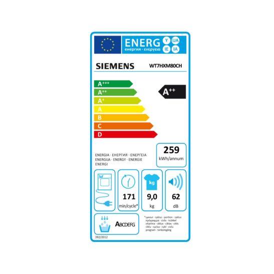 Siemens Sèche-Linge iq700 WT7HXM80CH, 9kg Home Connect 2.0