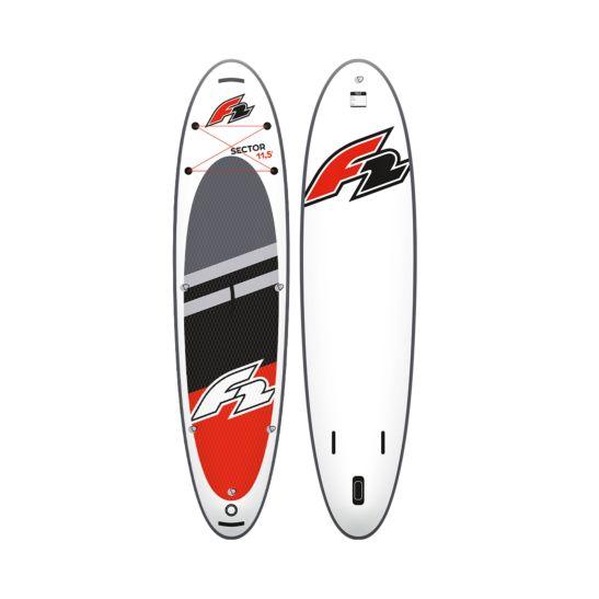 F2 iSUP Sector Set 350 x 85 x 15cm rot + Sitz + Paddle