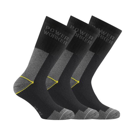 Rohner Socken Herren Power Worker Wilmax 3er Pack schwarz Gr.43/46