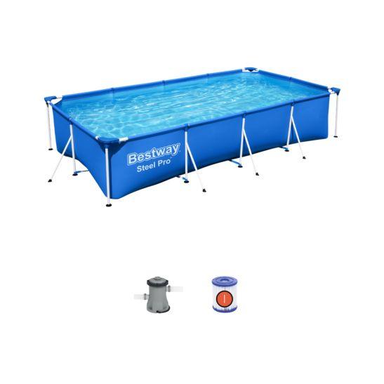 Bestway Steel Pro Frame Pool Set 400 x 211 x 81 cm ink. Filterpumpe