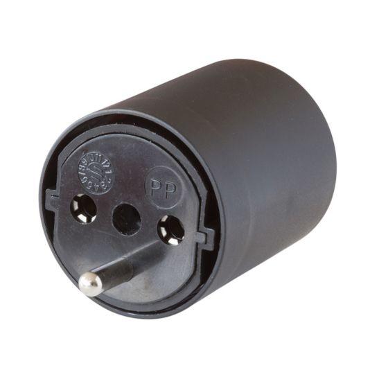 FixAdapter DE auf CH schwarz 230V 3-polig
