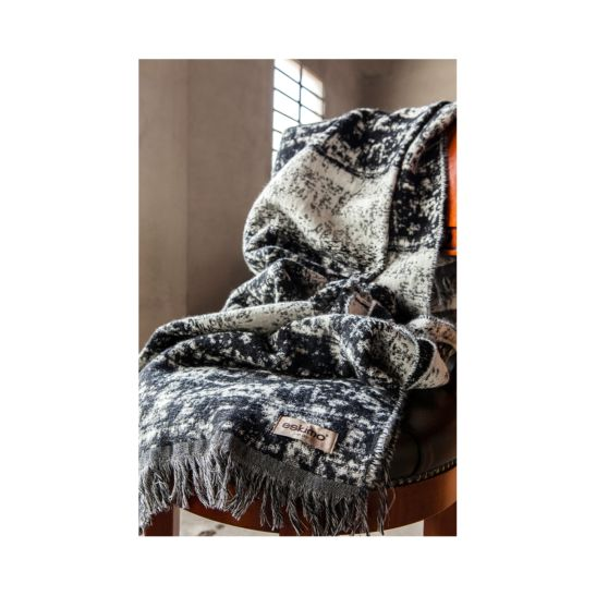 Eskimo Wohndecke Fabiola Abstract 130 x 180 cm schwarz / weiss