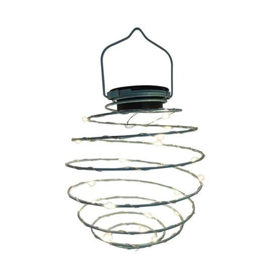 dameco LED Solar Spiral Hängelampe türkis