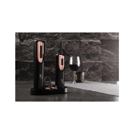 Berlinger Haus elektrischer Korkenzieher & Vakuum-Weinpumpe Black Rose Collection