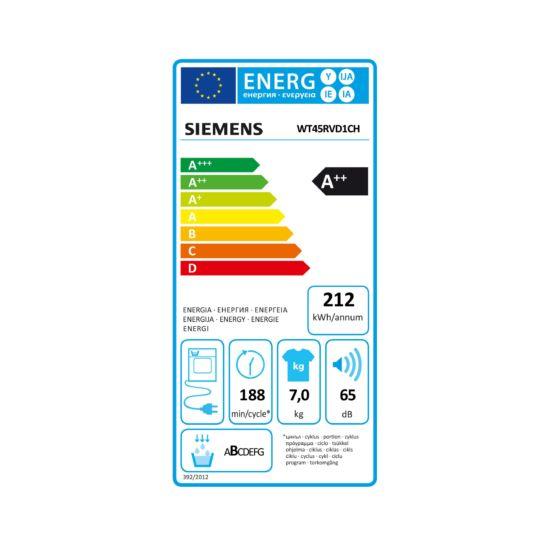 Siemens WT45RVD1CH Wärmepumpentrockner 7 kg
