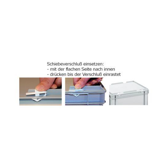 ALUTEC Schiebeverschlüsse 8 Stk. zu Kunststoffbox