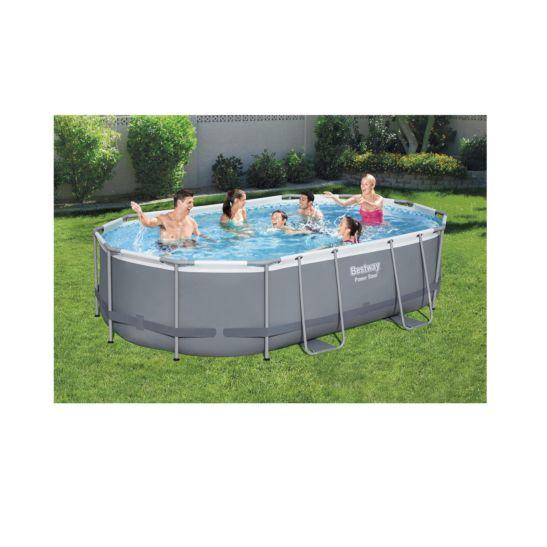 Bestway Steel Frame Pool Set 488 x 305 cm inkl. Filterpumpe