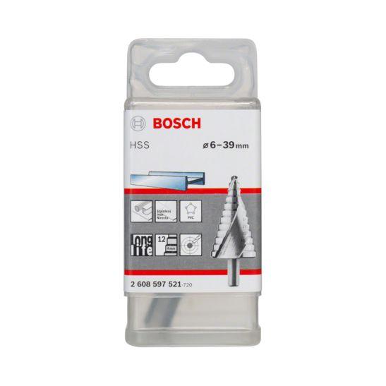 Bosch Stufenbohrer HSS 12 Stufen zyl. 6-39 mm