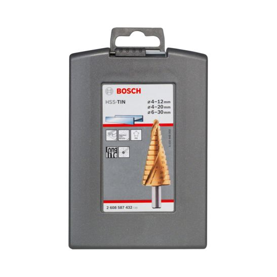 Bosch HSS-TiN-Stufenbohrerset, 3-teilig