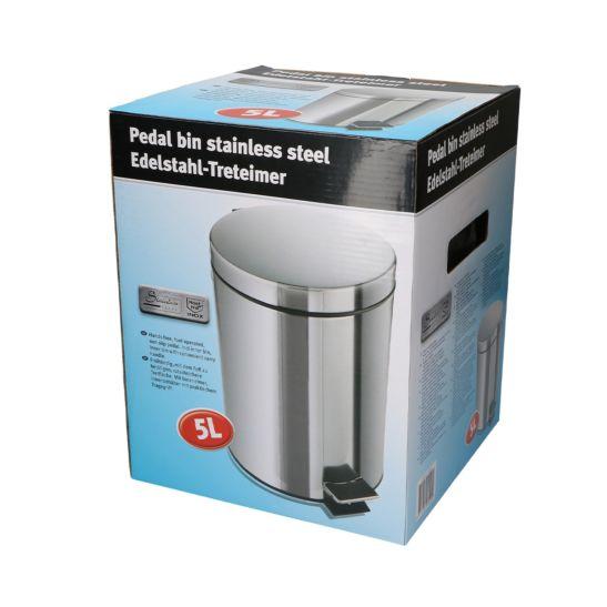 FS-STAR Edelstahl Treteimer 5 Liter