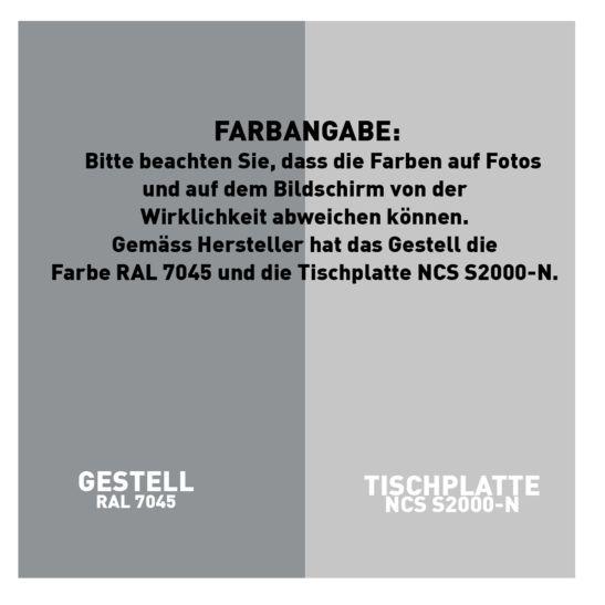 CONTINI höhenverstellbarer Bürotisch 160 x 80 cm grau / Gestell dunkelgrau