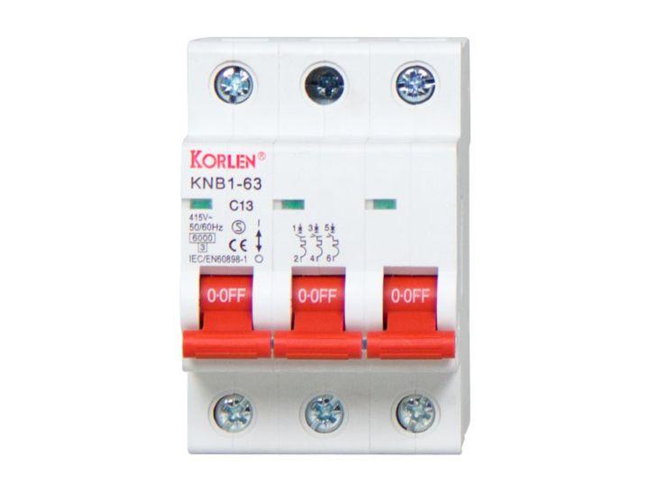 Korlen Leitungsschutzschalter C13A, 3-phasig